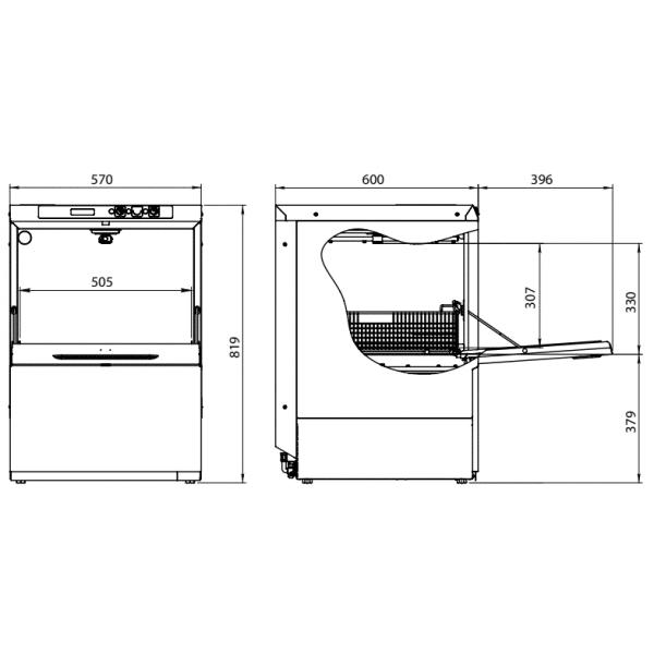 profesionalna mašina za pranje sudova
