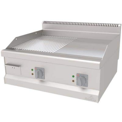 električni roštilj sa hromiranom kombinovanom pločom