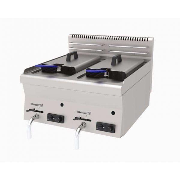 profesionalna plinska dupla friteza 600 mm