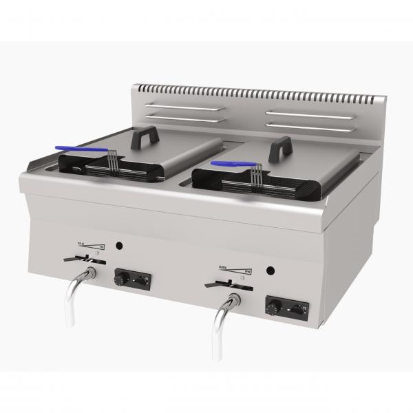 Profesionalna plinska dupla friteza širine 800 mm - serija 600: