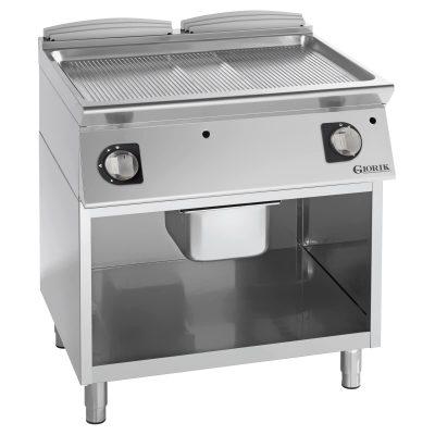 profesionalni gasni roštilj rebrasta hromirana ploča
